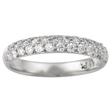 Milky Way Pave Wedding Band - top view