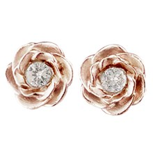 Large Rose Diamond Stud Earrings