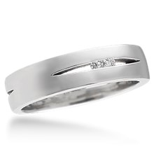 Men's Carved Branch Wedding Band