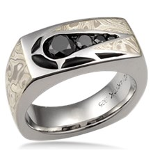 Men's Shooting Star Wedding Band