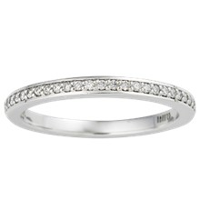 Short Pave Channel Wedding Band - top view