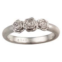 Rose Trio Wedding Band - top view