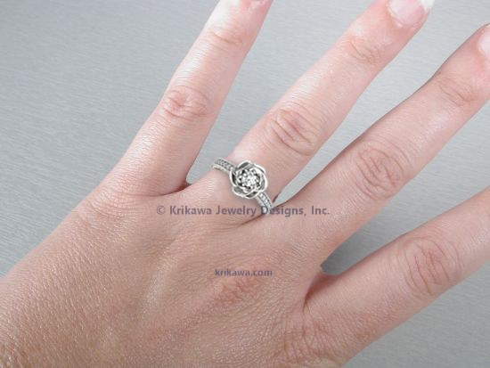 Vintage Rose Engagement Ring