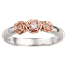 Rose Trio Wedding Band with Diamonds