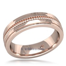 Modern Single Millegrain Wedding Band