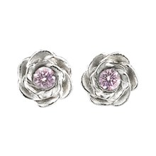 Medium Rose Diamond Stud Earrings