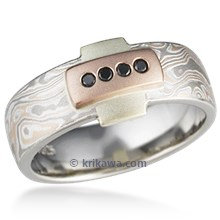 Bassist's Mokume Wedding Band