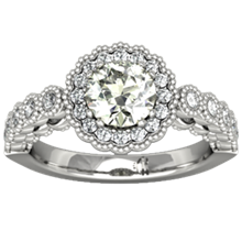 Vintage Lacy Engagement Ring - top view