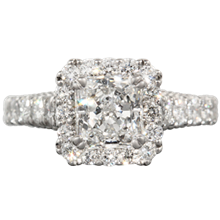 Vintage Deco Cathedral Engagement Ring - top view