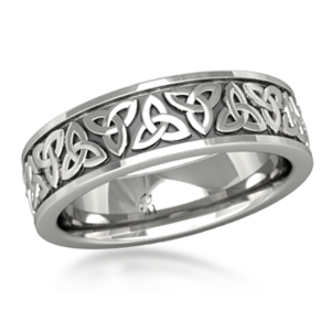 Mens Celtic Trinity Knot Wedding Band