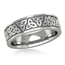 mens celtic trinity knot wedding band - Celtic Knot Wedding Rings