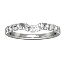 Vintage Garden Fountain Wedding Band - top view