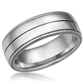 Vintage Wreath Men's Wedding Band