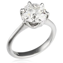 Simple Basket Solitaire Engagement Ring
