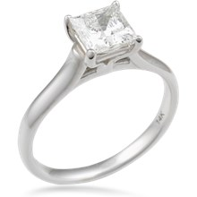 Simple Cathedral Solitaire Engagement Ring