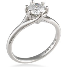 Simple Six Prong Solitaire Engagement Ring