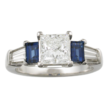 Five Stone Prong Engagement Ring - top view