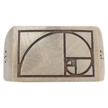 Fibonacci Signet Ring - top view