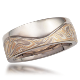 Unique Mokume Wedding Bands
