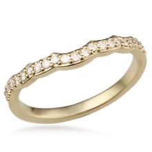 Diamond Beaded Curved Band, 0.21ctw