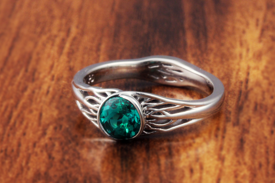 Tree Of Life Engagement Ring With Roots