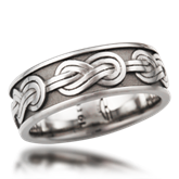 Mens's Eternity Pattern Wedding Bands