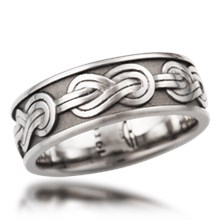 Climber's Knot Eternity Wedding Band