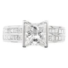 Cathedral Channel Engagement Ring - top view