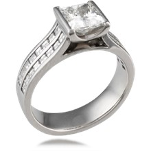 Cathedral Channel Engagement Ring