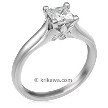Diamond Leaf Solitaire