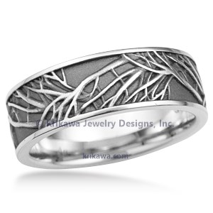 Tree of Life Wedding Band