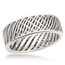 Moire Wedding Band