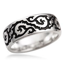 Tribal Infinity Wedding Band
