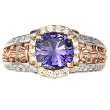 Juicy Vintage Fleur De Lis Engagement Ring - top view