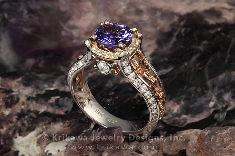 Juicy Vintage Fleur De Lis Engagement Ring