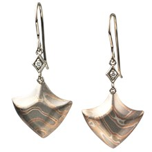 Mokume Shield Earrings