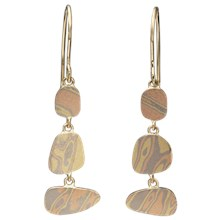 Mokume Pebble Earrings