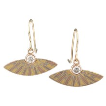 Sunburst Mokume Earrings