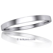 Narrow Delicate Wedding Band