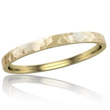 Delicate Hammered Wedding Band