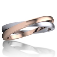 Layered Crossover Wedding Band