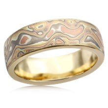 Autumn Mokume Wedding Band