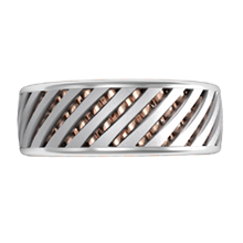 Lattice Work Wedding Band - top view