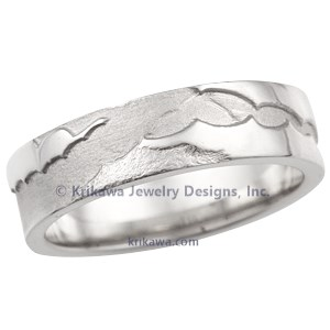 Agave Leaf Wedding Band