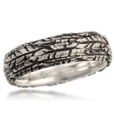 Feather Wedding Band