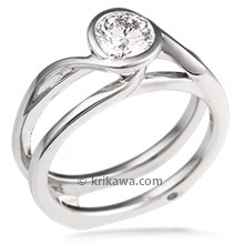Swirl Scaffolding Engagement Ring