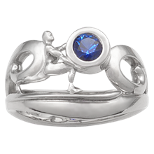 Silver Surfer Engagement Ring - top view