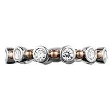 Bezel & Bead Diamond Wedding Band - top view
