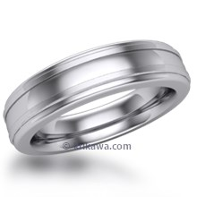 Lathed Mens Wedding Band