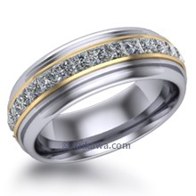 Mens Deco Diamond Wedding Ring